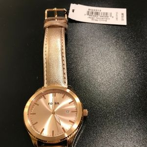 Fossil Rose Gold Watch *New with Tags and Box*